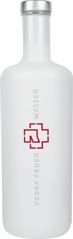 WEIßE Flasche Rammstein Vodka 0,7L Feuer & Wasser 2020 Edition (40% Vol.)