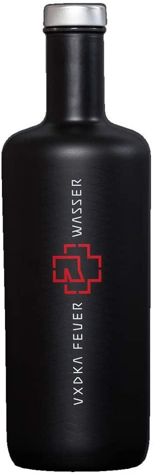 Schwarze Flasche Rammstein Vodka 0,7L Feuer & Wasser 2020 Edition (40% Vol.)