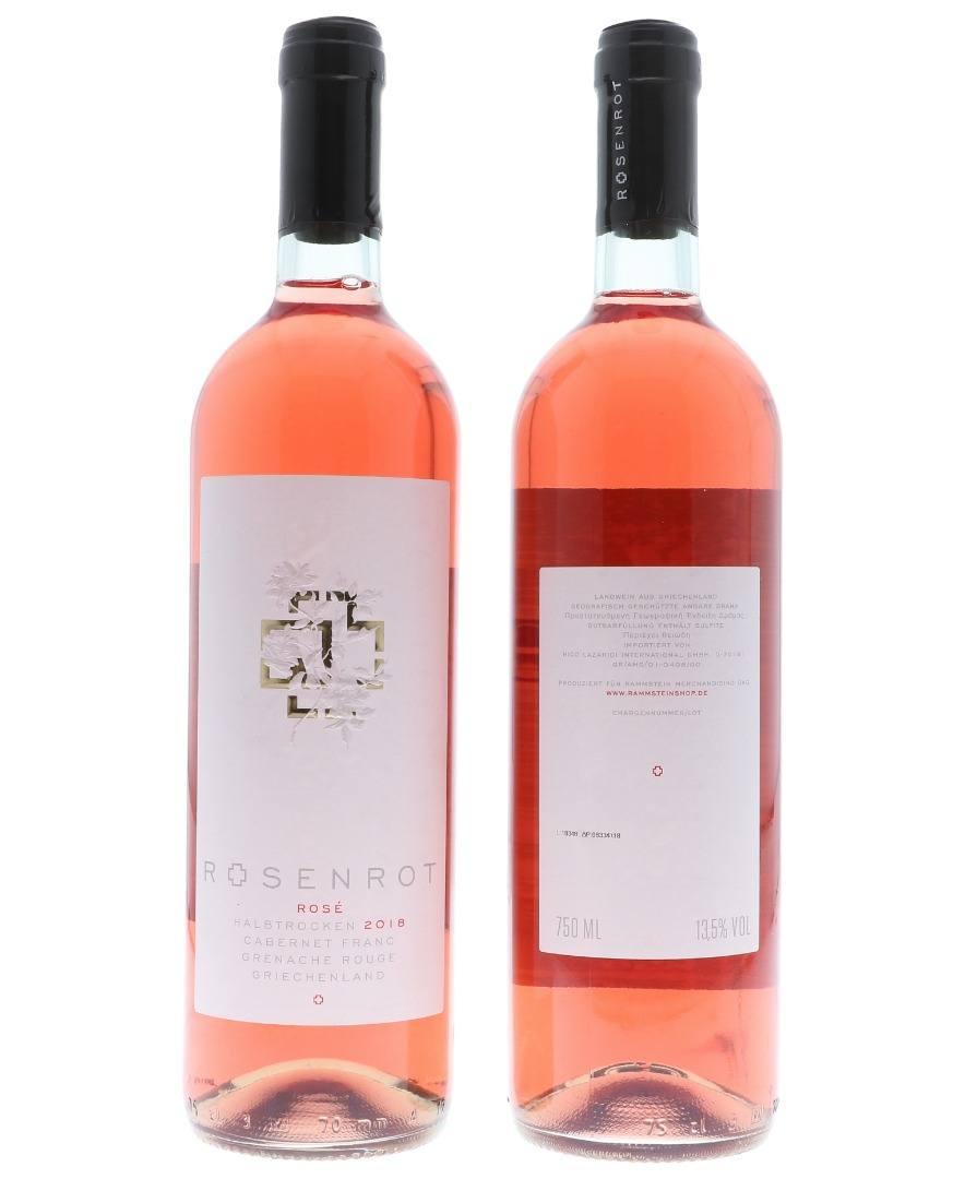 Rammstein Rosenrot Rosé Wein 0,75L (12 % Vol.)