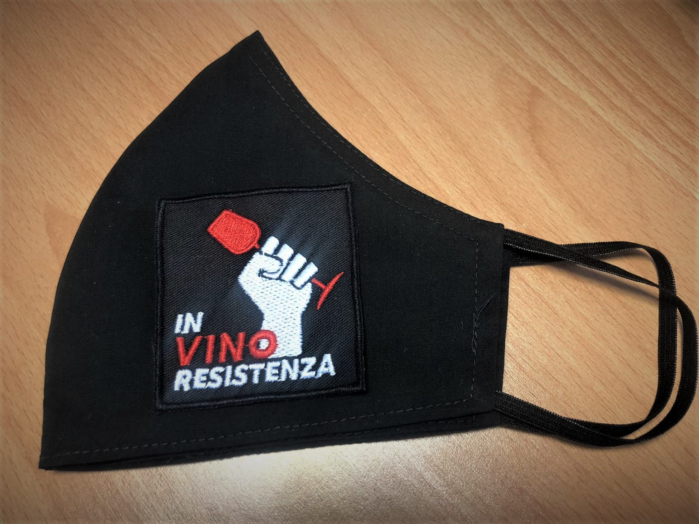 In Vino Resistenza Mundschutz! Handgenäht in Düsseldorf!